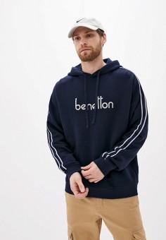Худи, United Colors of Benetton, цвет: синий. Артикул: UN012EMHXAM8. Одежда / Толстовки и олимпийки / Худи
