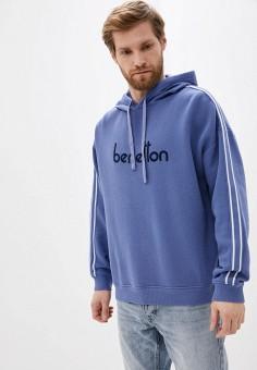 Худи, United Colors of Benetton, цвет: синий. Артикул: UN012EMHXAN0. Одежда / Толстовки и олимпийки / Худи