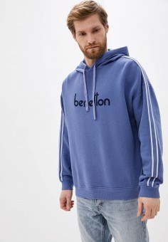 Худи, United Colors of Benetton, цвет: синий. Артикул: UN012EMHXAN0.