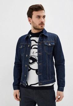 Куртка джинсовая, United Colors of Benetton, цвет: синий. Артикул: UN012EMHXAV1. Одежда / Верхняя одежда / Джинсовые куртки