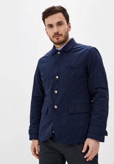 Куртка утепленная, United Colors of Benetton, цвет: синий. Артикул: UN012EMHXAW3. Одежда / Верхняя одежда / Демисезонные куртки
