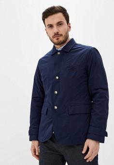 Куртка утепленная, United Colors of Benetton, цвет: синий. Артикул: UN012EMHXAW3.