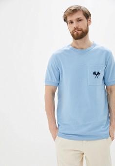 Футболка, United Colors of Benetton, цвет: голубой. Артикул: UN012EMHXBC6.