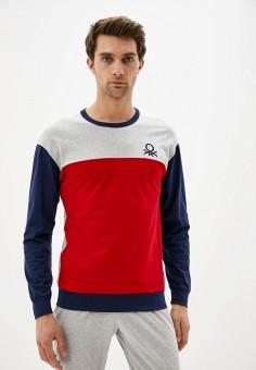 Лонгслив домашний, United Colors of Benetton, цвет: красный. Артикул: UN012EMJZJB6. Одежда / Домашняя одежда