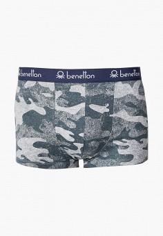 Трусы, United Colors of Benetton, цвет: серый. Артикул: UN012EMJZJC1. Одежда / Нижнее белье