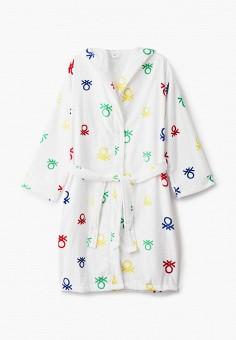 Халат домашний, United Colors of Benetton, цвет: белый. Артикул: UN012EUJZJG5. Одежда / Домашняя одежда