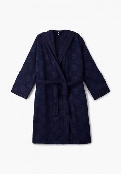 Халат домашний, United Colors of Benetton, цвет: синий. Артикул: UN012EUJZJG6. Одежда / Домашняя одежда