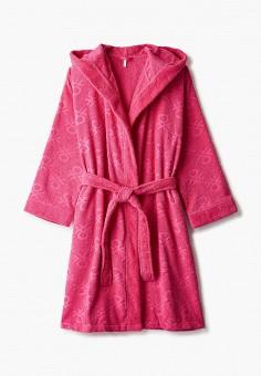 Халат домашний, United Colors of Benetton, цвет: розовый. Артикул: UN012EUJZJG7. Одежда / Домашняя одежда