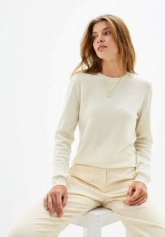 Джемпер, United Colors of Benetton, цвет: бежевый. Артикул: UN012EWFUYV5. Одежда / Джемперы, свитеры и кардиганы / Джемперы и пуловеры / Джемперы