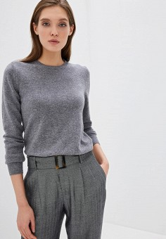Джемпер, United Colors of Benetton, цвет: серый. Артикул: UN012EWFUYX5. Одежда / Джемперы, свитеры и кардиганы / Джемперы и пуловеры