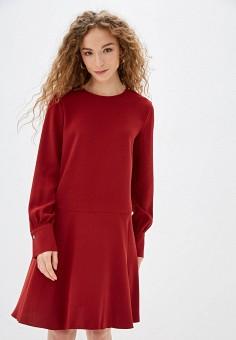 Платье, United Colors of Benetton, цвет: бордовый. Артикул: UN012EWFVBQ5.