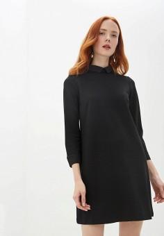 Платье, United Colors of Benetton, цвет: черный. Артикул: UN012EWFVBQ7. Одежда / Платья и сарафаны