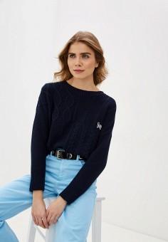 Джемпер, United Colors of Benetton, цвет: синий. Артикул: UN012EWHXUT4. Одежда / Джемперы, свитеры и кардиганы / Джемперы и пуловеры / Джемперы
