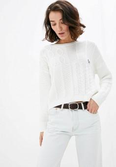 Джемпер, United Colors of Benetton, цвет: белый. Артикул: UN012EWHXUT5. Одежда / Джемперы, свитеры и кардиганы / Джемперы и пуловеры / Джемперы