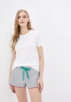Футболка, United Colors of Benetton, цвет: белый. Артикул: UN012EWHXUV0. Одежда