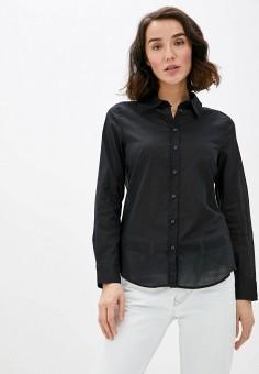 Рубашка, United Colors of Benetton, цвет: черный. Артикул: UN012EWHXVO3. Одежда / Блузы и рубашки / Рубашки
