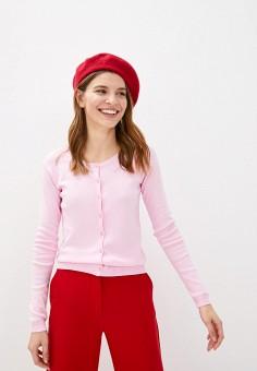 Кардиган, United Colors of Benetton, цвет: розовый. Артикул: UN012EWHXVS1. Одежда / Джемперы, свитеры и кардиганы / Кардиганы