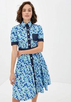 Платье, United Colors of Benetton, цвет: голубой. Артикул: UN012EWHXWD5.