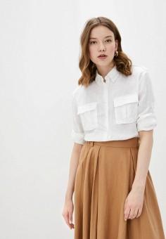 Рубашка, United Colors of Benetton, цвет: белый. Артикул: UN012EWHXXZ5. Одежда / Блузы и рубашки / Рубашки