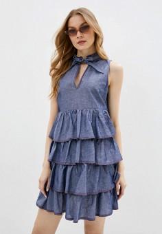 Платье, United Colors of Benetton, цвет: синий. Артикул: UN012EWHXYG0.