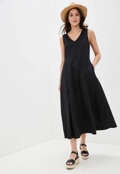 Платье, United Colors of Benetton, цвет: черный. Артикул: UN012EWHXYJ8.