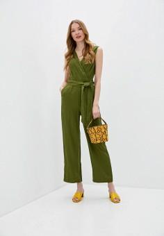 Комбинезон, United Colors of Benetton, цвет: хаки. Артикул: UN012EWHXYN4. Одежда / Комбинезоны