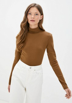 Водолазка, United Colors of Benetton, цвет: коричневый. Артикул: UN012EWJZDF2. Одежда / Джемперы, свитеры и кардиганы / Водолазки