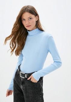 Водолазка, United Colors of Benetton, цвет: голубой. Артикул: UN012EWJZDG0. Одежда / Джемперы, свитеры и кардиганы / Водолазки