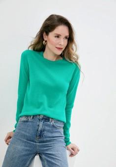 Джемпер, United Colors of Benetton, цвет: зеленый. Артикул: UN012EWJZDL7. Одежда / Джемперы, свитеры и кардиганы / Джемперы и пуловеры / Джемперы