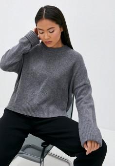 Джемпер, United Colors of Benetton, цвет: серый. Артикул: UN012EWJZDV1. Одежда / Джемперы, свитеры и кардиганы / Джемперы и пуловеры / Джемперы