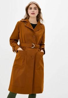 Плащ, United Colors of Benetton, цвет: коричневый. Артикул: UN012EWJZEK0. Одежда / Верхняя одежда / Плащи и тренчи