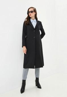 Пальто, United Colors of Benetton, цвет: черный. Артикул: UN012EWJZEM2.