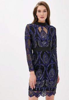 Платье, Vagi, цвет: синий. Артикул: VA020EWCQLR5. Одежда / Платья и сарафаны / Вечерние платья
