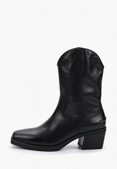 Полусапоги, Vagabond, цвет: черный. Артикул: VA468AWGFXG3. Обувь / Сапоги / Полусапоги