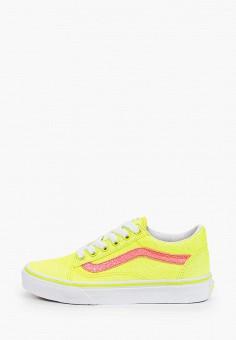 Кеды, Vans, цвет: желтый. Артикул: VA984AGIMBQ7. Девочкам / Спорт