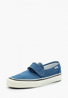 Слипоны, Vans, цвет: синий. Артикул: VA984AUAJYK1.
