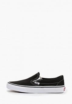 Слипоны, Vans, цвет: черный. Артикул: VA984AUGDNS1.