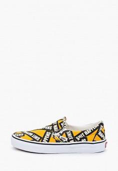 Слипоны, Vans, цвет: желтый. Артикул: VA984AUIMJY9. Обувь / Слипоны