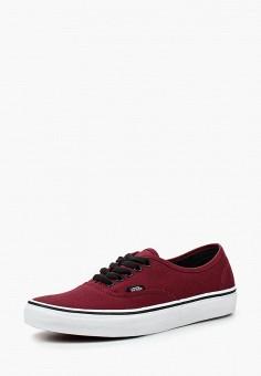 Кеды, Vans, цвет: бордовый. Артикул: VA984AURDH27.
