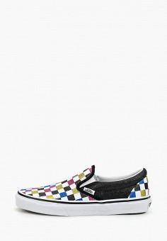 Слипоны, Vans, цвет: черный. Артикул: VA984AWGDMD5.