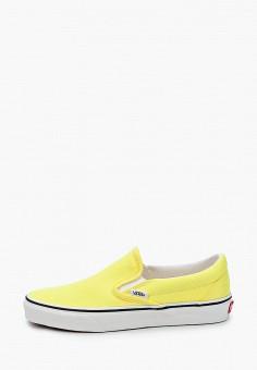Слипоны, Vans, цвет: желтый. Артикул: VA984AWIMKZ8.