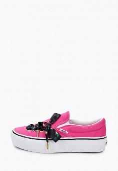 Слипоны, Vans, цвет: розовый. Артикул: VA984AWJNYP3.