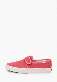 Слипоны, Vans, цвет: розовый. Артикул: VA984AWJNYP5.