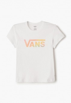 Футболка, Vans, цвет: белый. Артикул: VA984EGIMBP9.