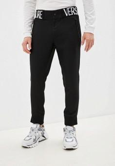 Брюки спортивные, Versace Jeans Couture, цвет: черный. Артикул: VE035EMHYTK5. Одежда / Брюки / Спортивные брюки
