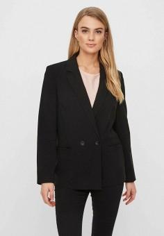 Пиджак, Vero Moda, цвет: черный. Артикул: VE389EWHJCW0. Одежда / Пиджаки и костюмы