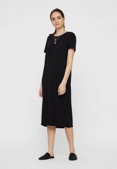 Платье, Vero Moda, цвет: черный. Артикул: VE389EWHJEB0. Одежда / Платья и сарафаны