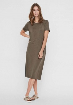 Платье, Vero Moda, цвет: коричневый. Артикул: VE389EWHJEB4. Одежда