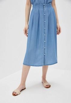 Юбка джинсовая, Vero Moda, цвет: голубой. Артикул: VE389EWHJEF9. Одежда / Юбки