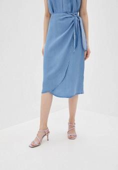 Юбка джинсовая, Vero Moda, цвет: голубой. Артикул: VE389EWHJEG4. Одежда / Юбки